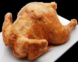 1 Pollo frito en aceite de olivas.